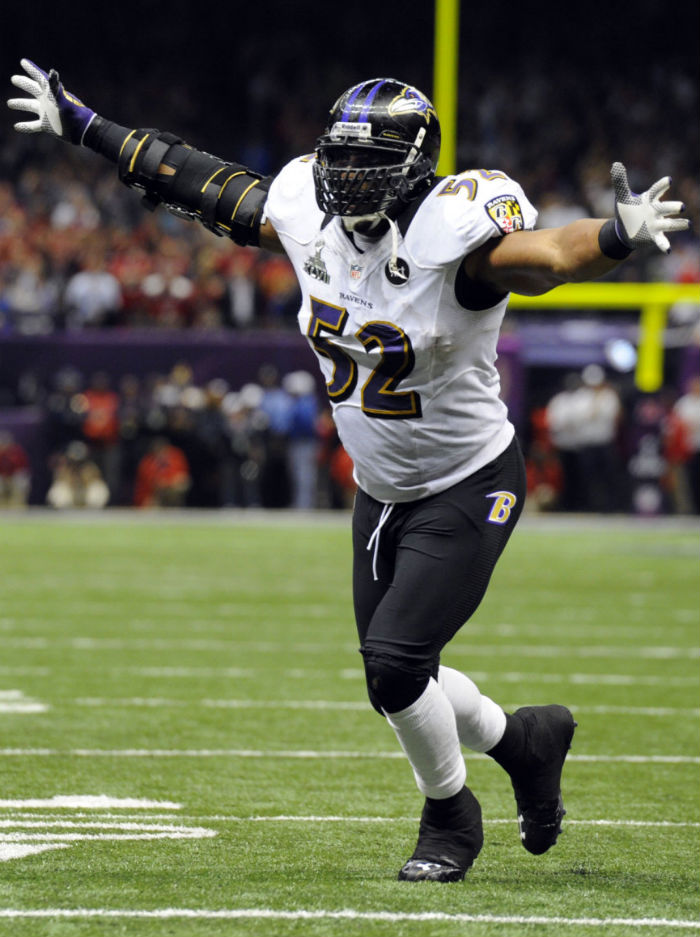 Ray Lewis wearing Under Armour Fierce III