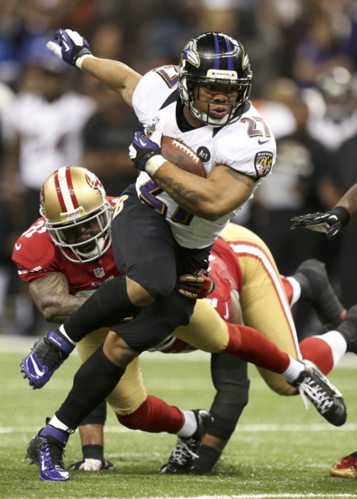 Ray Rice wearing Nike Lunar Superbad Pro