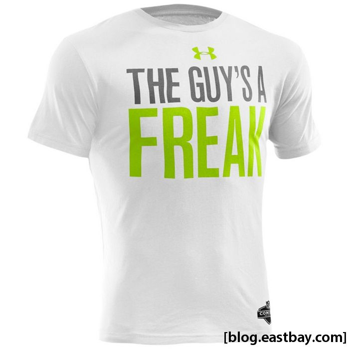 Under Armour NFL Combine Graphic T-Shirt // Leon Sandcastle Freak
