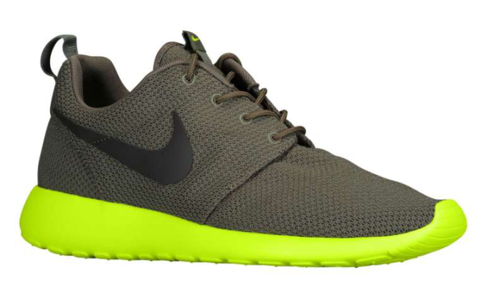 Nike Roshe Run - Tarp Green/Volt
