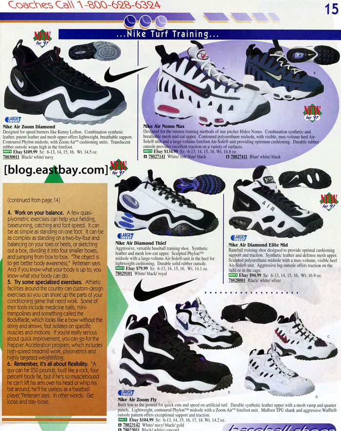Eastbay Memory Lane: 1997 Nike Baseball Turf Trainers