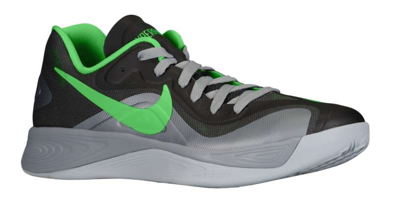 nike zoom hyperfuse 2012 low � stadium greypoison green