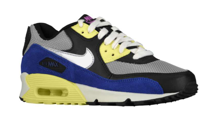 Nike WMNS Air Max 90 - Black/Electric Yellow-Metallic Silver