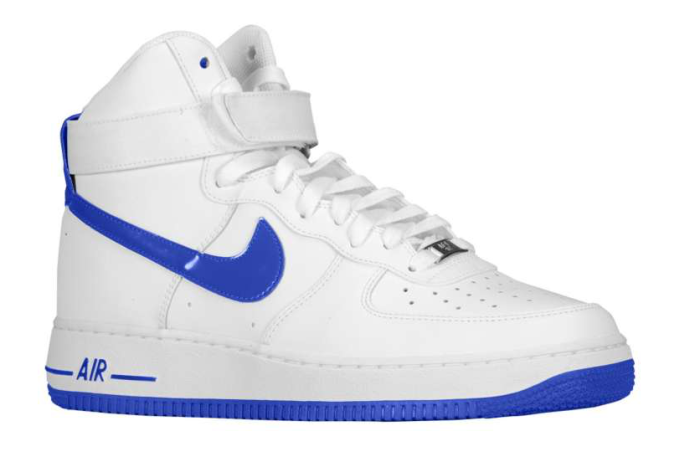 Nike Air Force 1 High - White/Hyper Blue