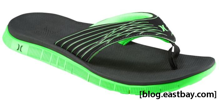 Hurley Phantom Free Sandal Black Neon Green
