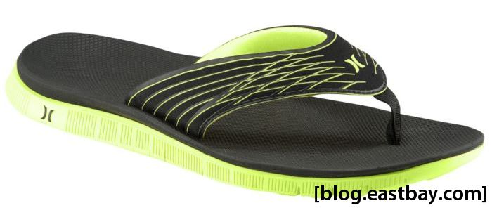 Hurley Phantom Free Sandal Black Neon Yellow