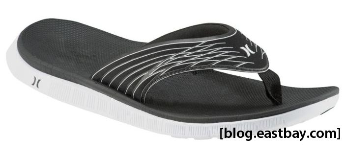 Hurley Phantom Free Sandal Black White