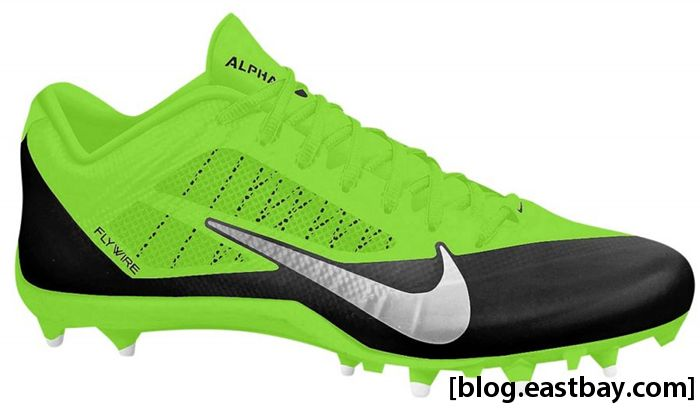Nike Alpha Pro Low TD Black Metallic Silver Electric Green
