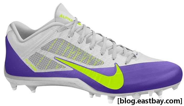 Nike Alpha Pro Low TD Metallic Silver Volt Court Purple
