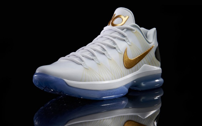 Nike KD V Elite White Metallic Gold Black Pure Platinum  585385-100 (2)
