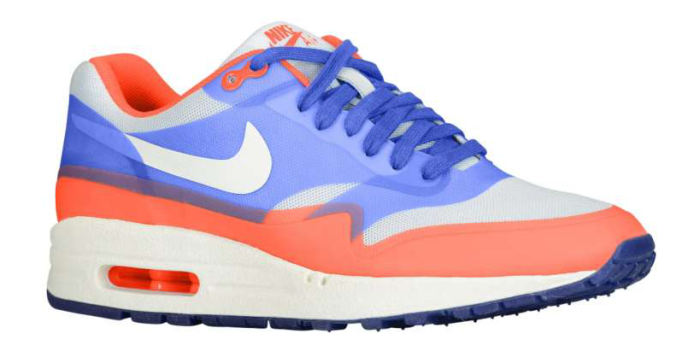 Nike WMNS Air Max 1 Fuse - Pure Platinum/Hyper Blue-Total Crimson