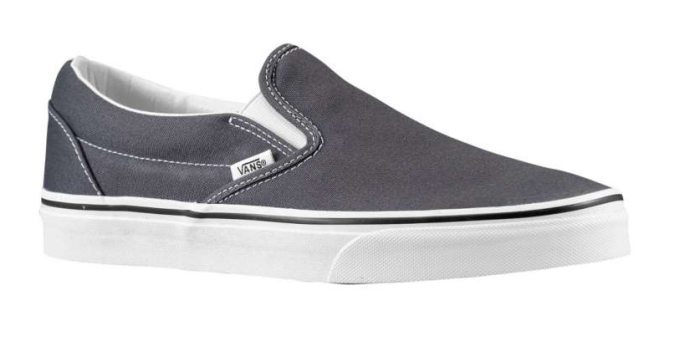 vans classic slipon � charcoal grey eastbay blog