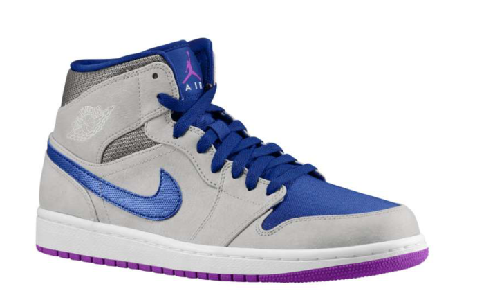 Air Jordan 1 Retro Mid - Matte Silver/Laser Purple