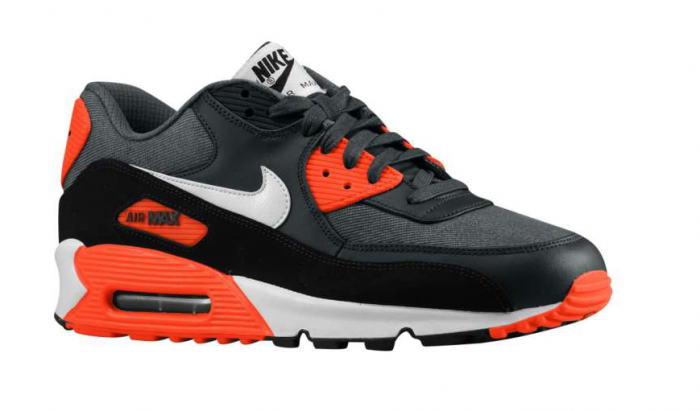 Nike Air Max 90 - Dark Grey/Total Crimson