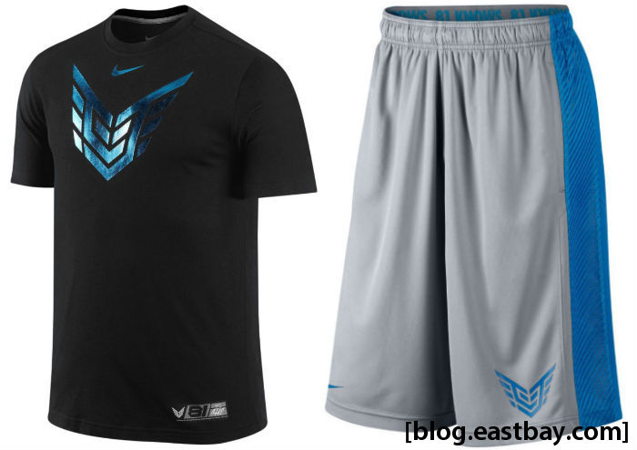 Nike CJ81 Elite Calvin Johnson DriFIT T-Shirt; CJ Fly XL Short