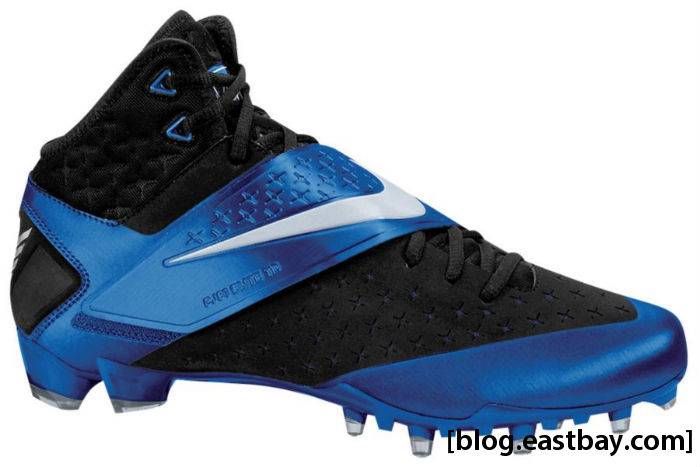 Nike CJ81 Elite Calvin Johnson Black Metallic Silver Sport Royal
