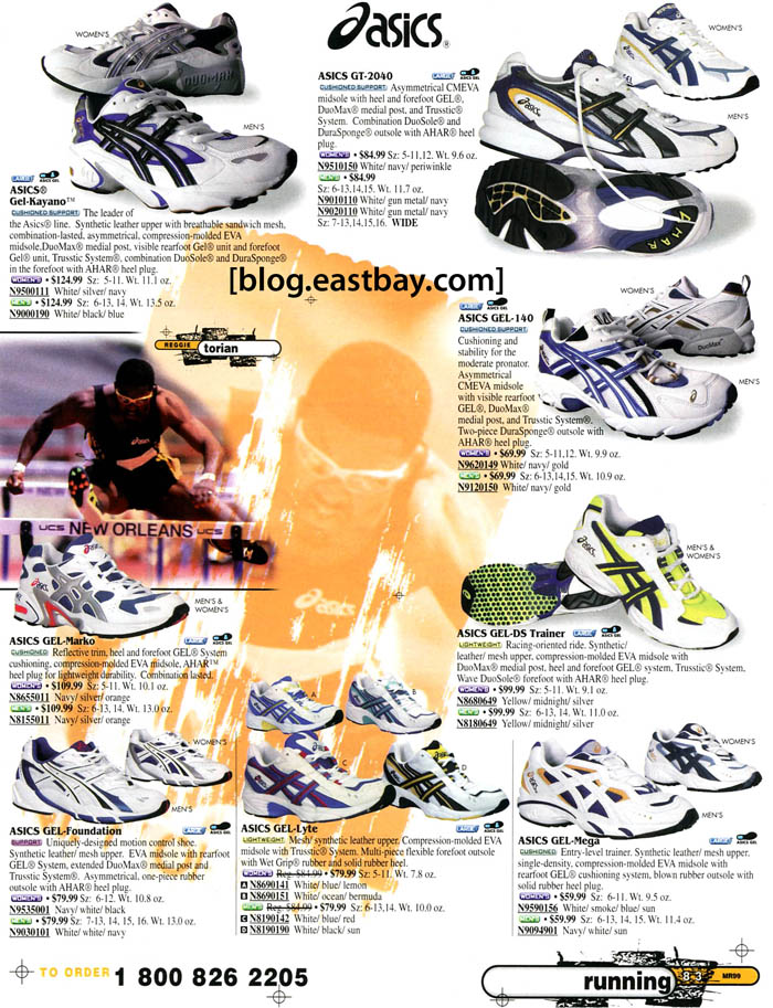 Eastbay Memory Lane: ASICS Running 1999