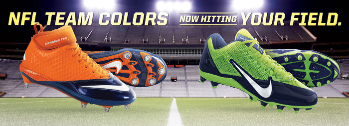 NFL Team Colors: Now Hitting Your Field