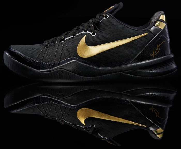 5995d4c86722 Available  Nike Kobe 8 System Elite – Black Metallic Gold