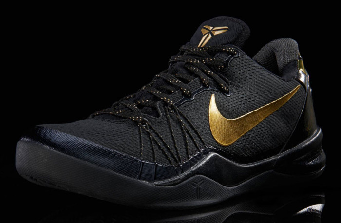 Nike Kobe 8 System Elite Black Metallic Gold 603269-100 (2)