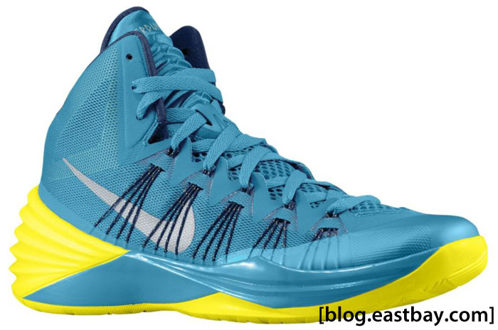 Nike Hyperdunk 2013 Tropical Teal/Sonic Yellow-Midnight Navy