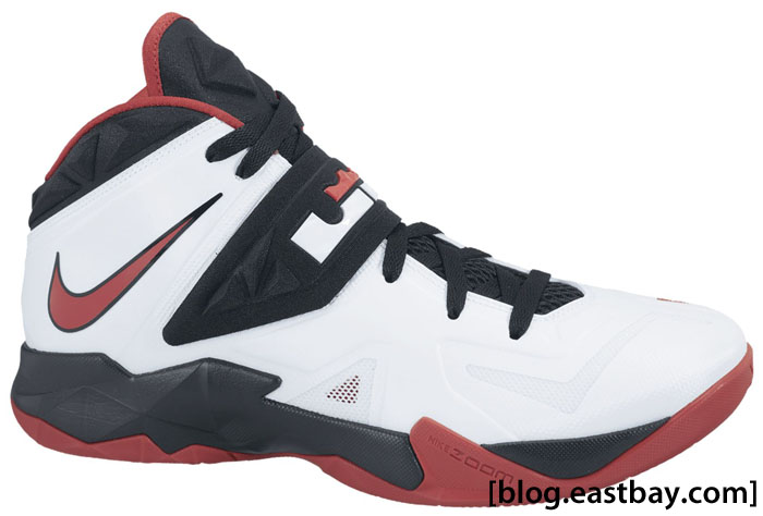 Nike Zoom Soldier VII White Black University Red 599264-100 (1)