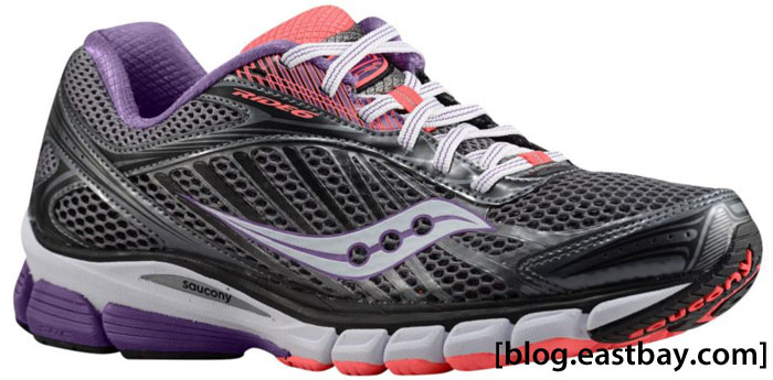 Saucony Women's Ride 6 Grey Purple Vizipro Coral
