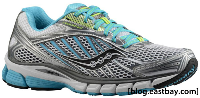 Saucony Women's Ride 6 Silver Blue Citron