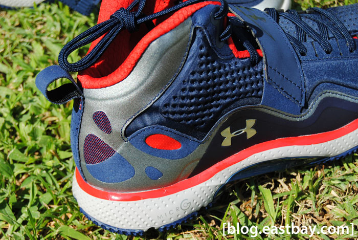 Under Armour Micro G Gridiron Trainer Midnight Navy Red Metallic Silver (6)