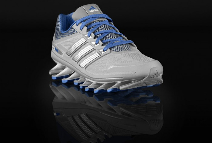 adidas Springblade Women's Metallic Silver Blue Beauty