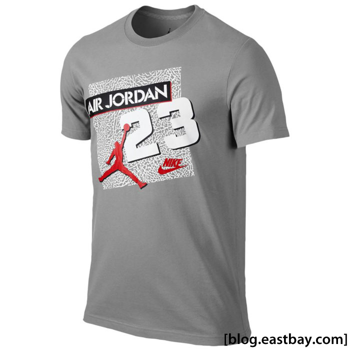 Jordan Retro 5 23 Archive T-Shirt Cement/Fire Red