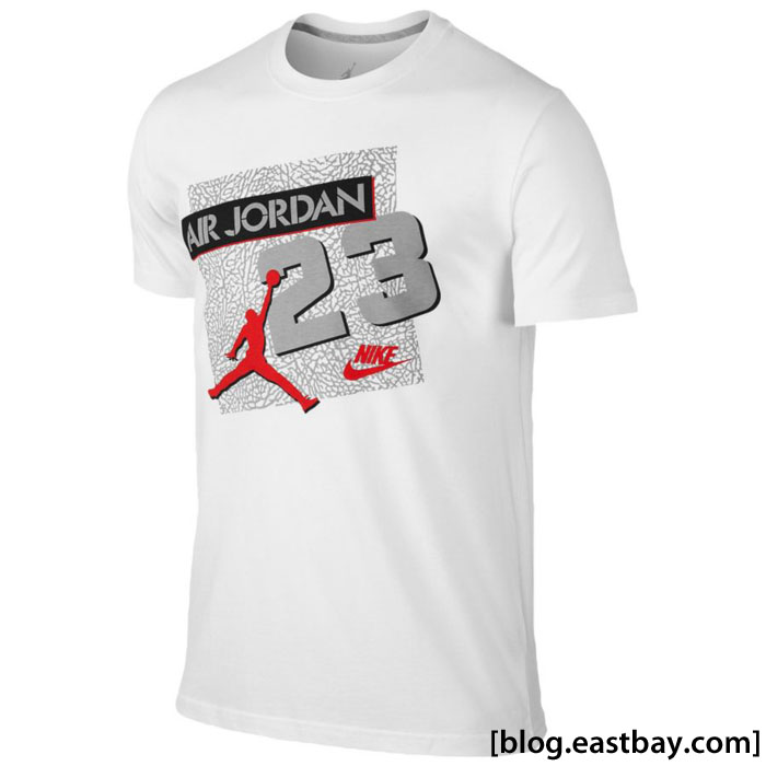 Jordan Retro 5 23 Archive T-Shirt White/Fire Red