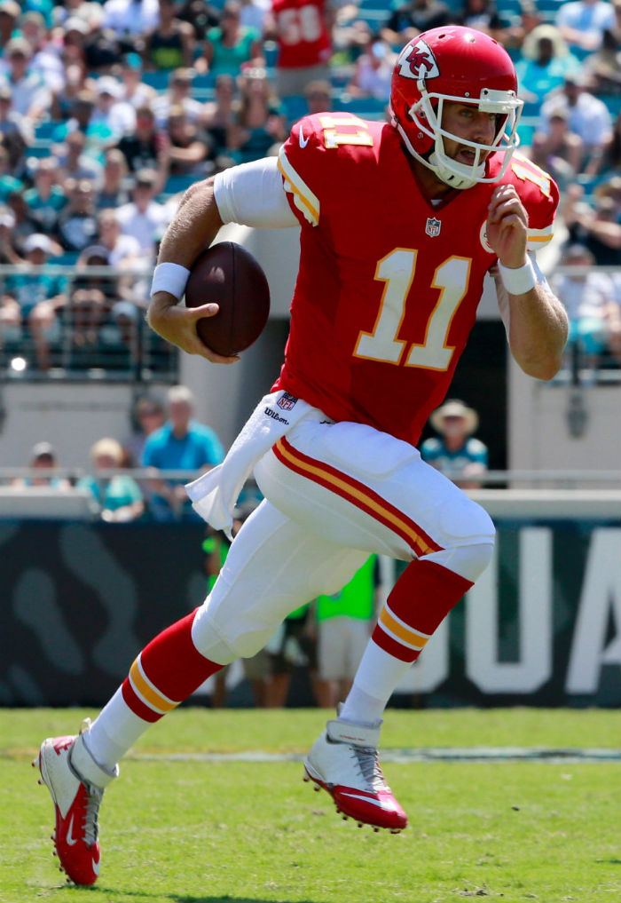 Alex Smith wearing Nike Lunar Super Bad Pro TD