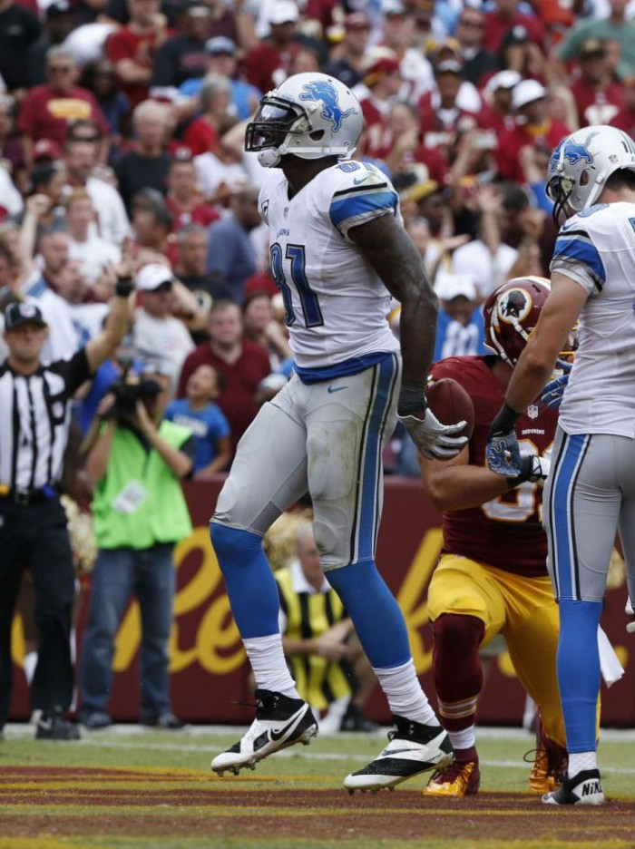 Calvin Johnson wearing Nike CJ81 Elite TD
