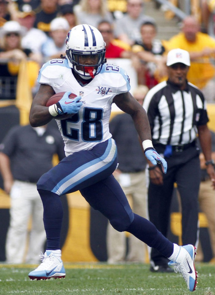 Chris Johnson wearing Nike Alpha Pro 3/4