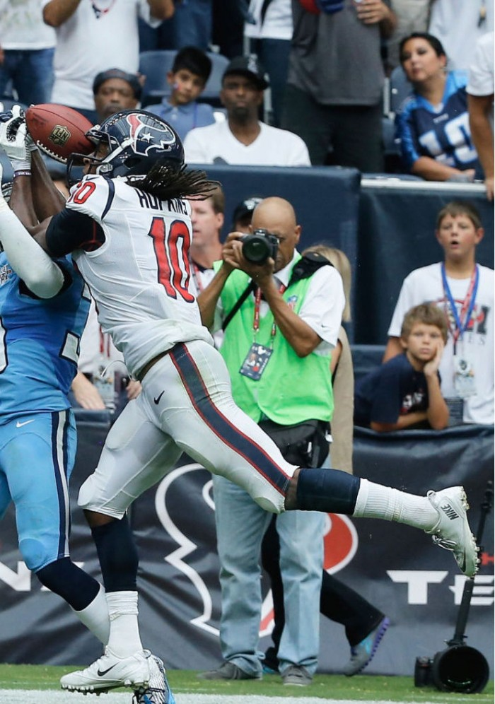 DeAndre Hopkins wearing Nike Zoom Vapor Carbon Fly 2