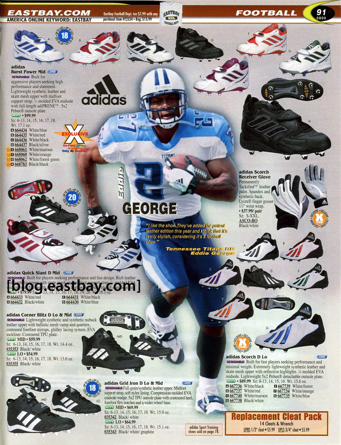 3cbd5c09d Eastbay Memory Lane    Football 2000 Featuring Eddie George for adidas