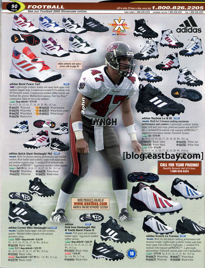 94d2f487c Eastbay Memory Lane    Football 2000 Featuring John Lynch for adidas