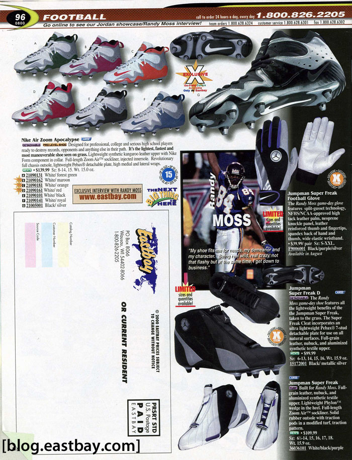 Eastbay Memory Lane // Football 2000 Featuring Randy Moss for Jordan