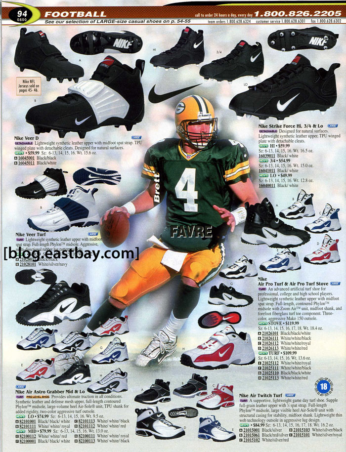 Eastbay Memory Lane // Football 2000 Featuring Brett Favre for Nike