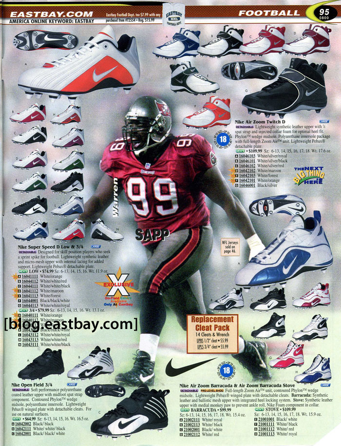 Eastbay Memory Lane // Football 2000 Featuring Warren Sapp for Nike
