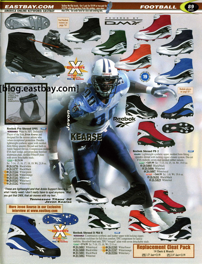 5413d5708 Eastbay Memory Lane    Football 2000 Featuring Jevon Kearse for Reebok