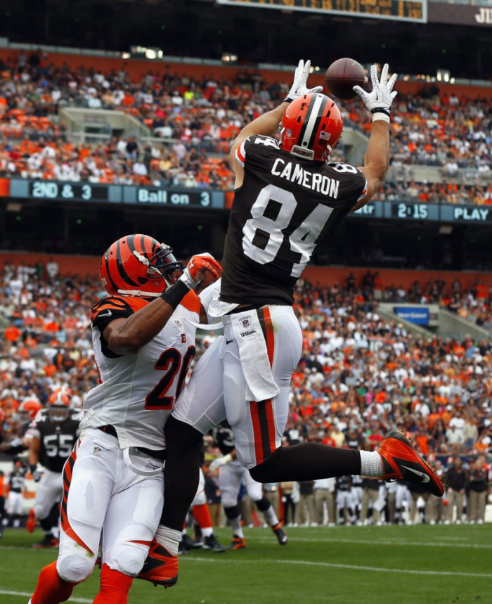 Jordan Cameron wearing Nike Alpha Talon Elite