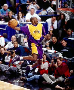 Kobe Bryant wearing adidas EQT Elevation / Crazy 97 in the 1997 NBA Dunk Contest
