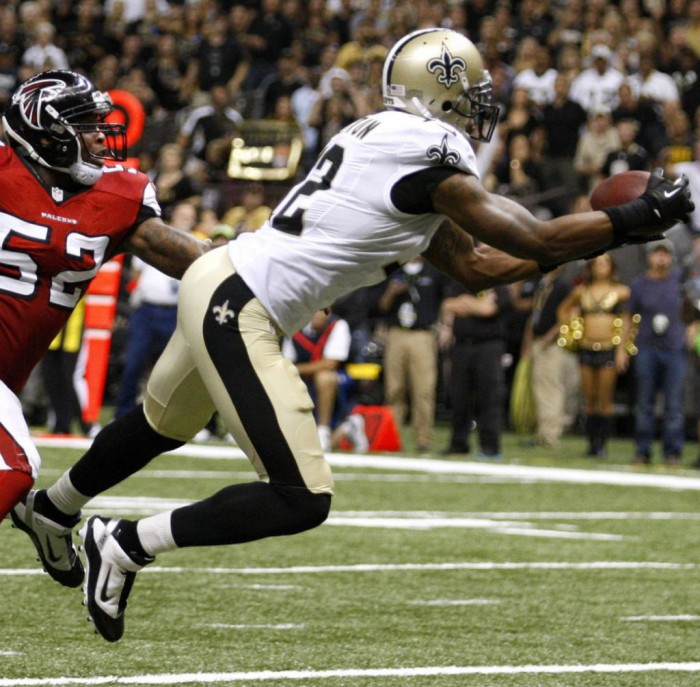 Marques Colston wearing Nike LT Super Bad TD