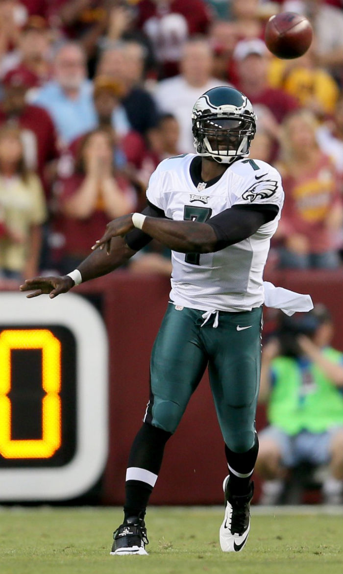 Michael Vick wearing Nike Lunar Super Bad Pro D