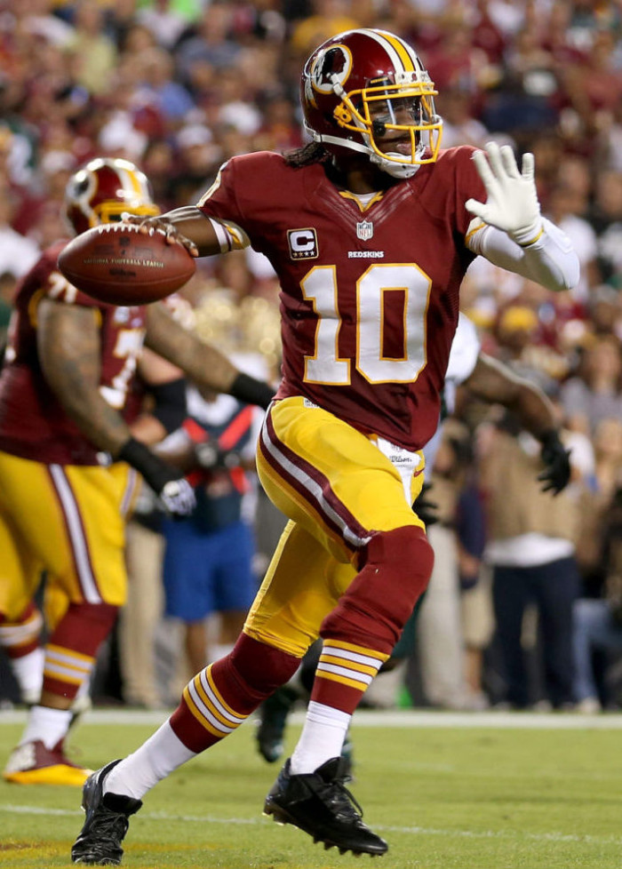 Robert Griffin III wearing adidas Crazyquick