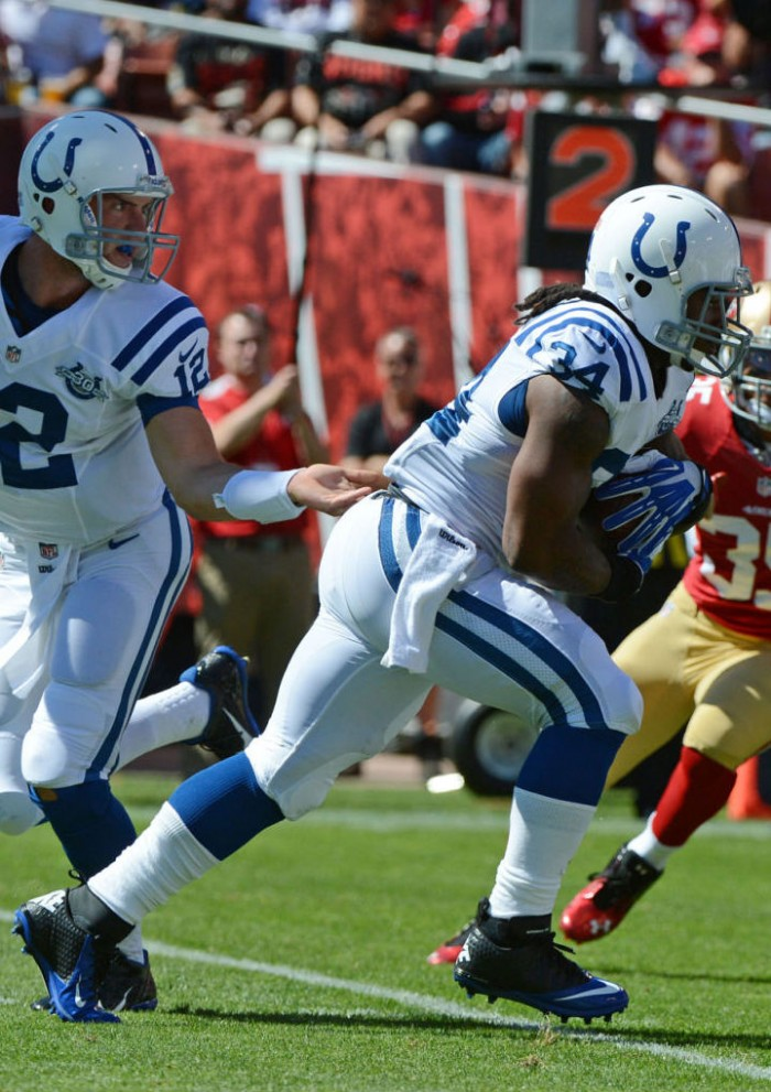 Trent Richardson wearing Nike Lunar Super Bad Pro TD