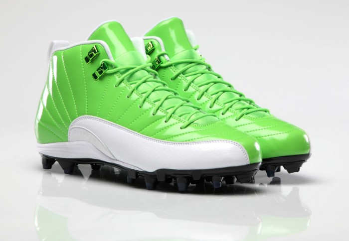 Air Jordan 12 XII PE Cleats Earl Thomas Green/White
