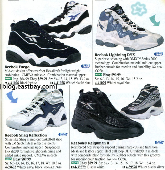 Eastbay Memory Lane // Reebok Basketball 1998 & The Shaq Reflection